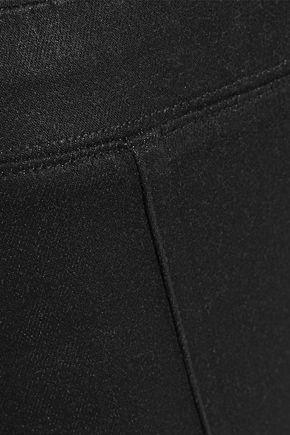 HELMUT LANG Coated stretch-denim kick-flare leggings