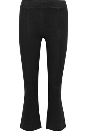 HELMUT LANG Coated stretch-denim kick-flare leggings