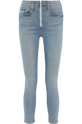 RAG & BONE Onslow cropped zip-detailed high-rise skinny jeans