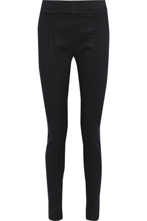 HELMUT LANG Coated stretch-denim leggings
