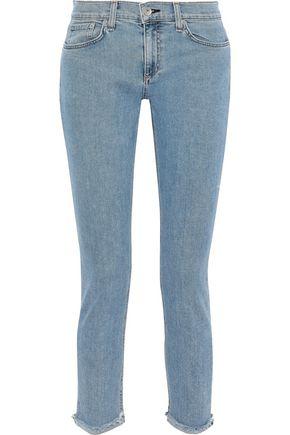 RAG & BONE Dre cropped frayed mid-rise slim-leg jeans