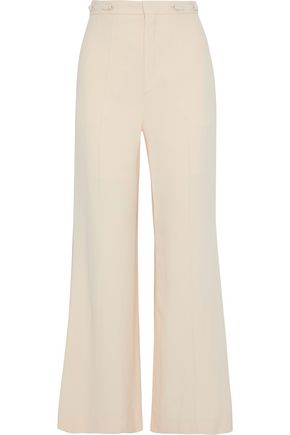 CHLOÉ Button-detailed cady wide-leg pants