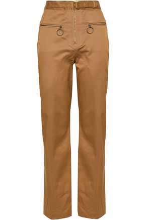 SELF-PORTRAIT Cotton-twill straight-leg pants