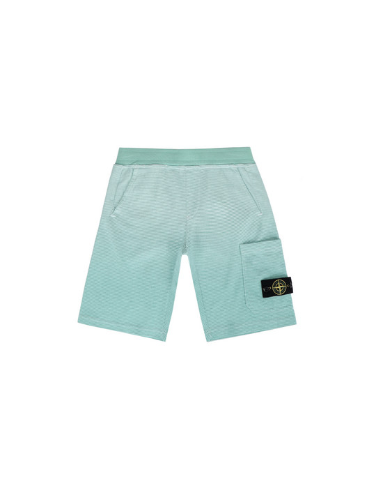 STONE ISLAND JUNIOR FLEECE BERMUDA SHORTS 62945