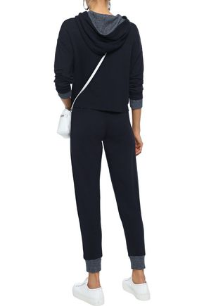 MONROW Cropped fleece thermal track pants