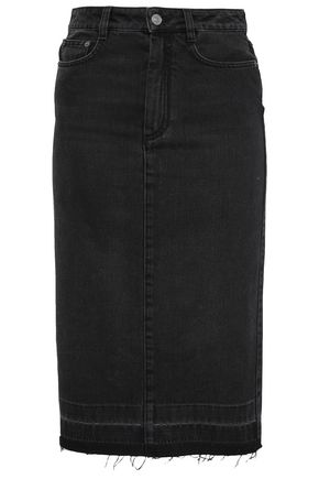 GIVENCHY Button-detailed denim pencil skirt