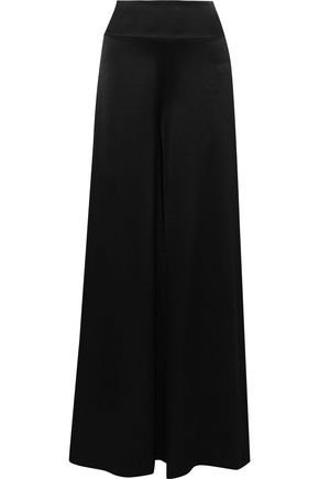 ALICE + OLIVIA Iyanna satin-crepe wide-leg pants