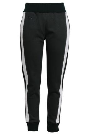 FENDI Flocked cotton-blend jersey track pants