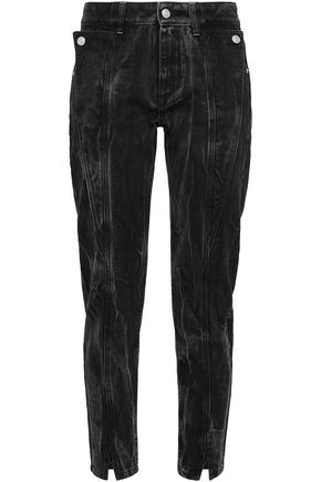 GIVENCHY Button-detailed high-rise slim-leg jeans