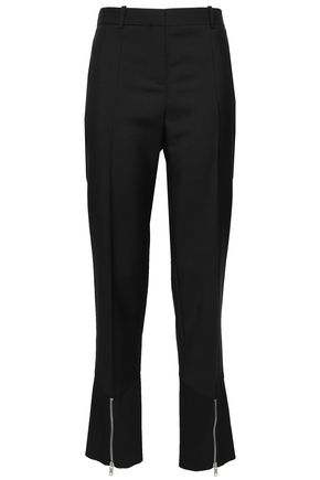 GIVENCHY Mohair and wool-blend straight-leg pants