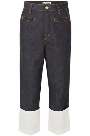 LOEWE Fisherman gauze-trimmed high-rise straight-leg jeans