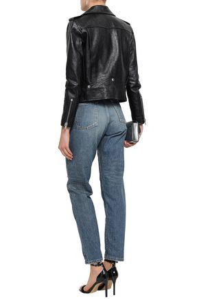 Official Website unique design durable service Distressed high-rise boyfriend jeans | SAINT LAURENT | Sale ...