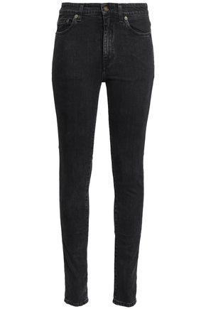 SAINT LAURENT Faded high-rise skinny jeans