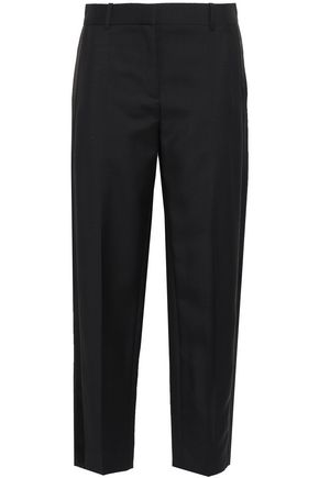 GIVENCHY Cropped mohair-blend straight-leg pants