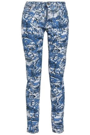 OFF-WHITE™ Painted mid-rise skinny jeans