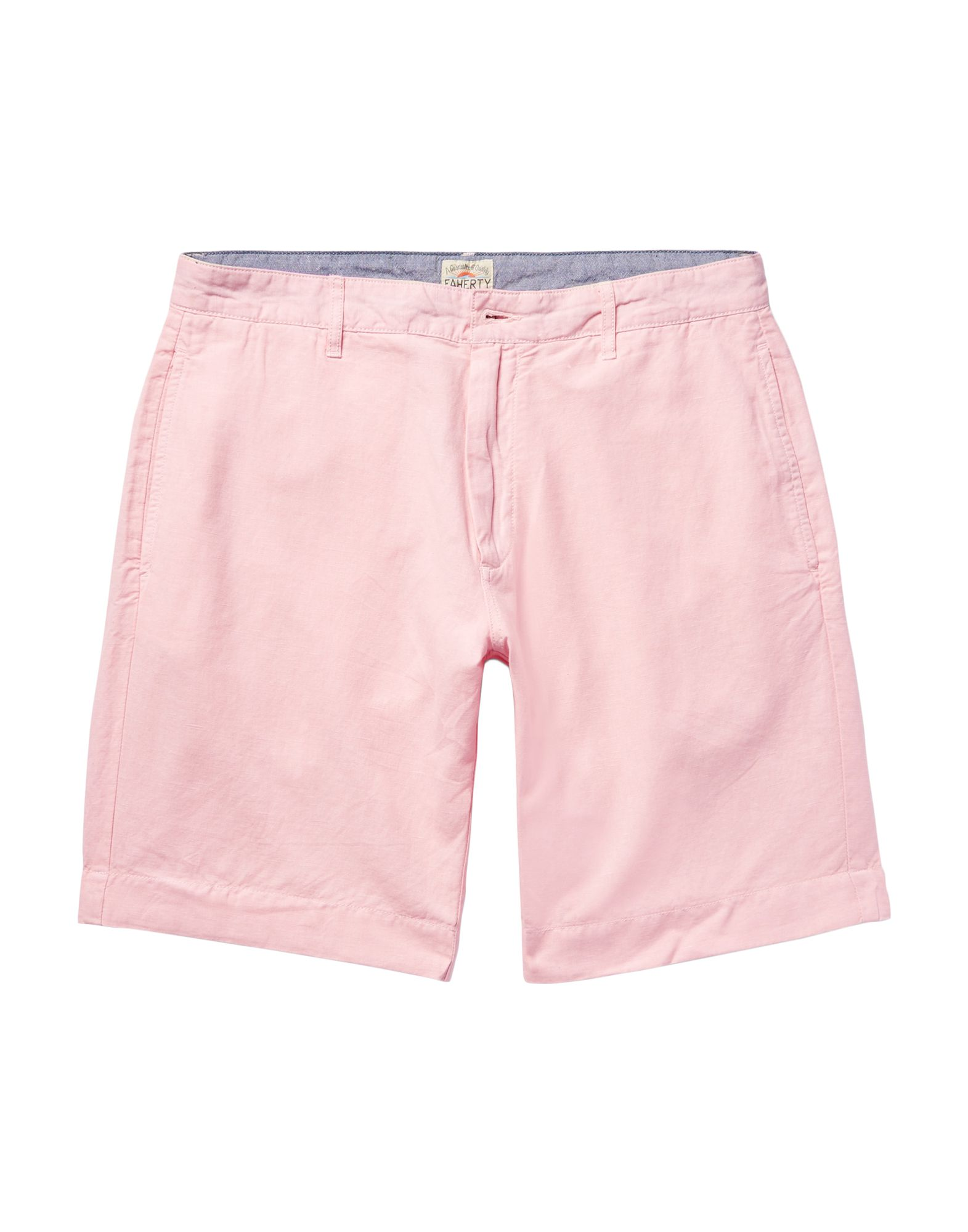 FAHERTY Shorts. plain weave, solid color, regular fit, high waisted, straight leg. 55% Flax, 45% Cotton BCI
