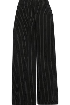 VINCE. Pinstriped jacquard culottes