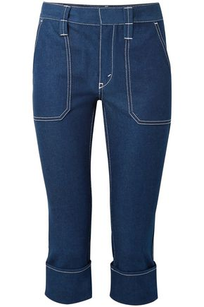 CHLOÉ Cropped high-rise straight-leg jeans