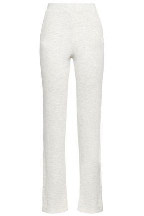 MONROW Mélange French terry straight-leg pants