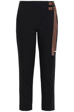 TIBI Buckled crepe tapered pants