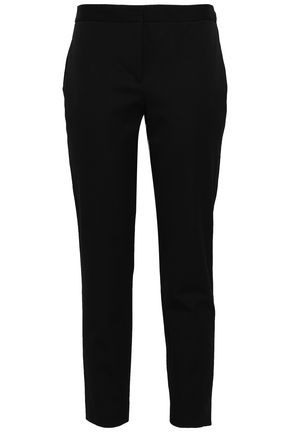 DKNY Cropped stretch-cotton twill tapered pants