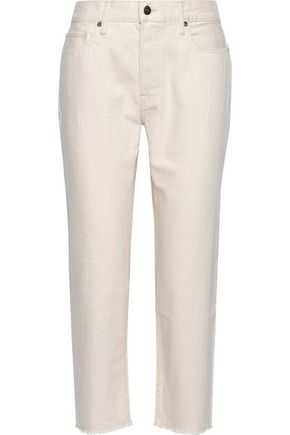 VINCE. Cropped mid-rise straight-leg jeans