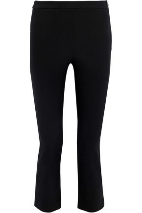 Cropped Cotton Blend Crepe Straight Leg Pants by Vince.
