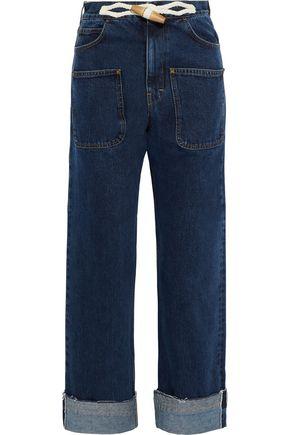 J.W.ANDERSON Braid-trimmed high-rise straight-leg jeans