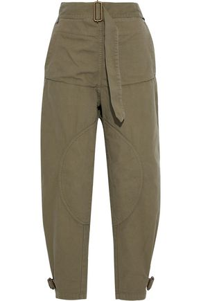 J.W.ANDERSON Layered belted cotton-canvas tapered pants