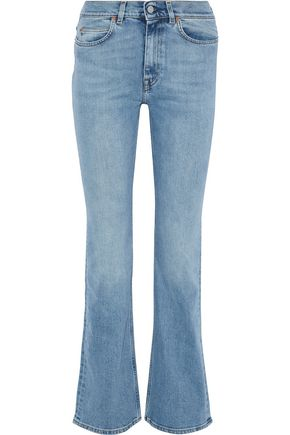 ACNE STUDIOS Faded mid-rise bootcut jeans