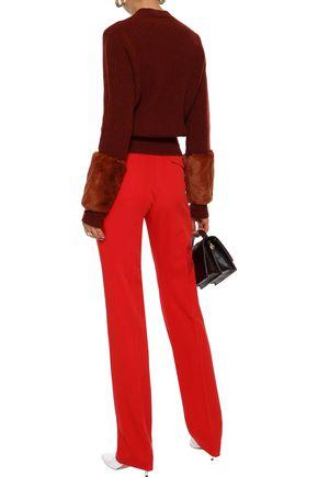 BOTTEGA VENETA Wool-twill straight-leg pants