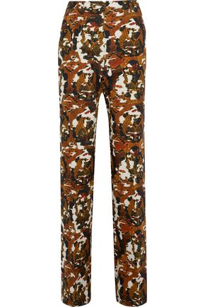 BOTTEGA VENETA Printed cotton-twill straight-leg pants