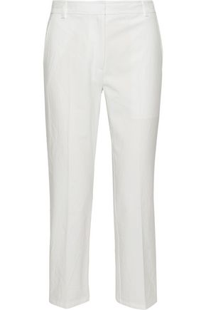 THOM BROWNE Cropped cotton straight-leg pants