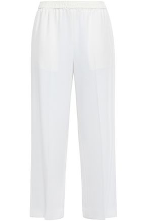 HELMUT LANG Cropped crepe wide-leg pants