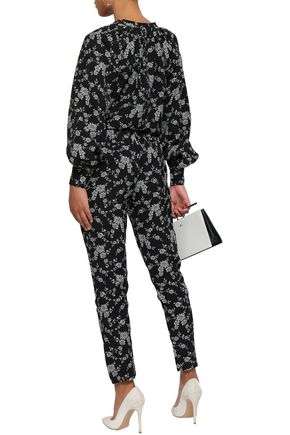 CO Floral-jacquard tapered pants
