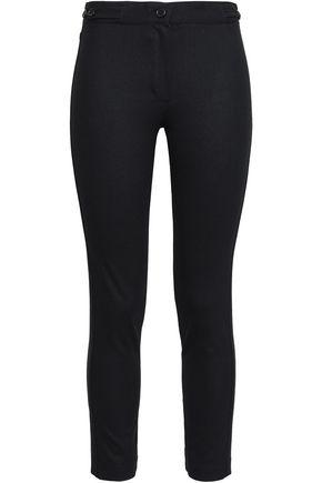 ANN DEMEULEMEESTER Cropped wool-blend slim-leg pants