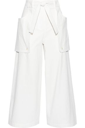 THOM BROWNE Belted textured-cotton culottes