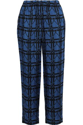 MARNI Cropped jacquard straight-leg pants