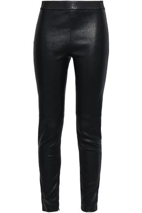 ELIE TAHARI Stretch-leather leggings