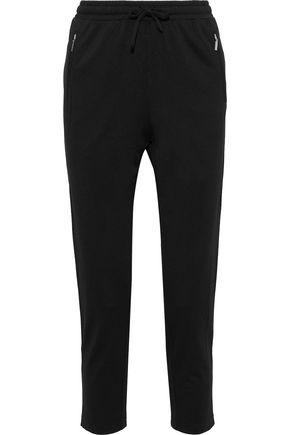 REBECCA MINKOFF Striped stretch-knit track pants