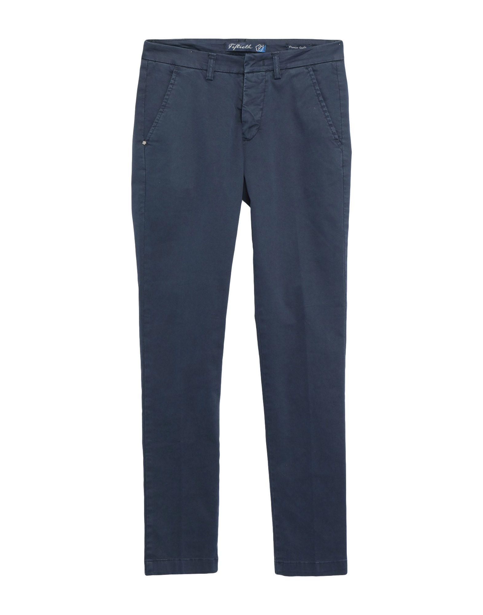 《期間限定セール開催中!》FIFTIETH メンズ パンツ ダークブルー 44 コットン 97% / ポリウレタン 3%