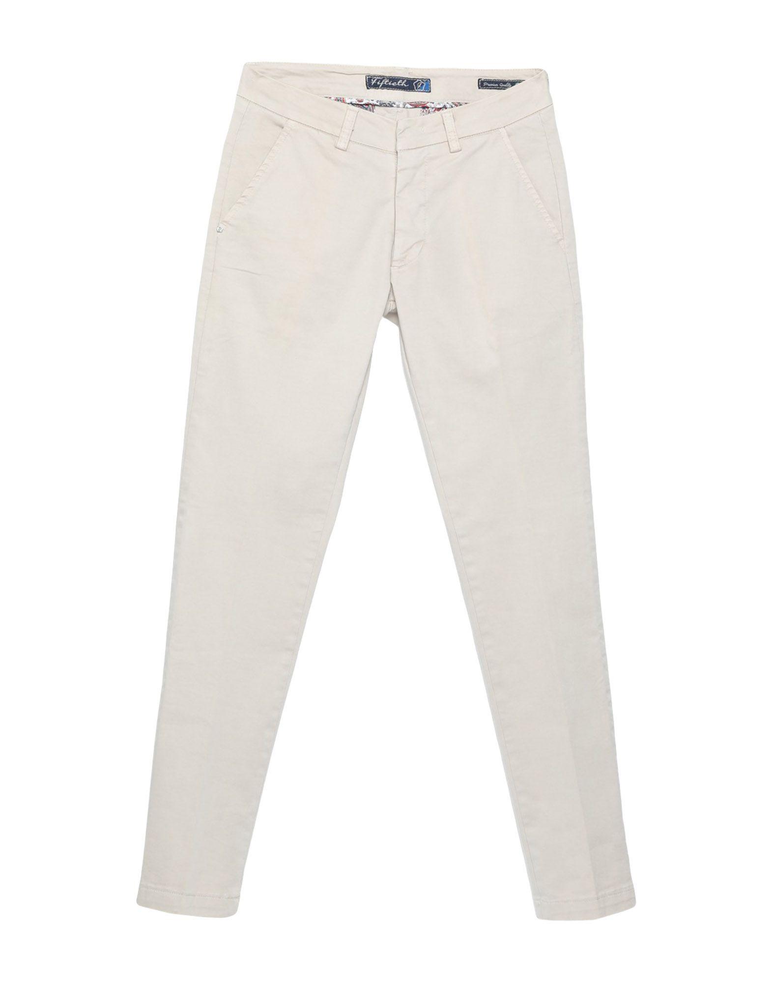 《期間限定セール開催中!》FIFTIETH メンズ パンツ ベージュ 42 コットン 97% / ポリウレタン 3%