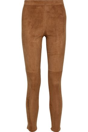 Roxanna Stretch Suede Leggings by Elie Tahari