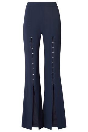 JONATHAN SIMKHAI Embellished stretch-crepe flared pants