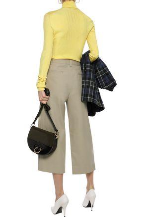 TIBI Margaux cropped cotton-twill wide-leg pants