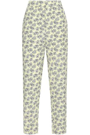 MARNI Floral-print crepe tapered pants