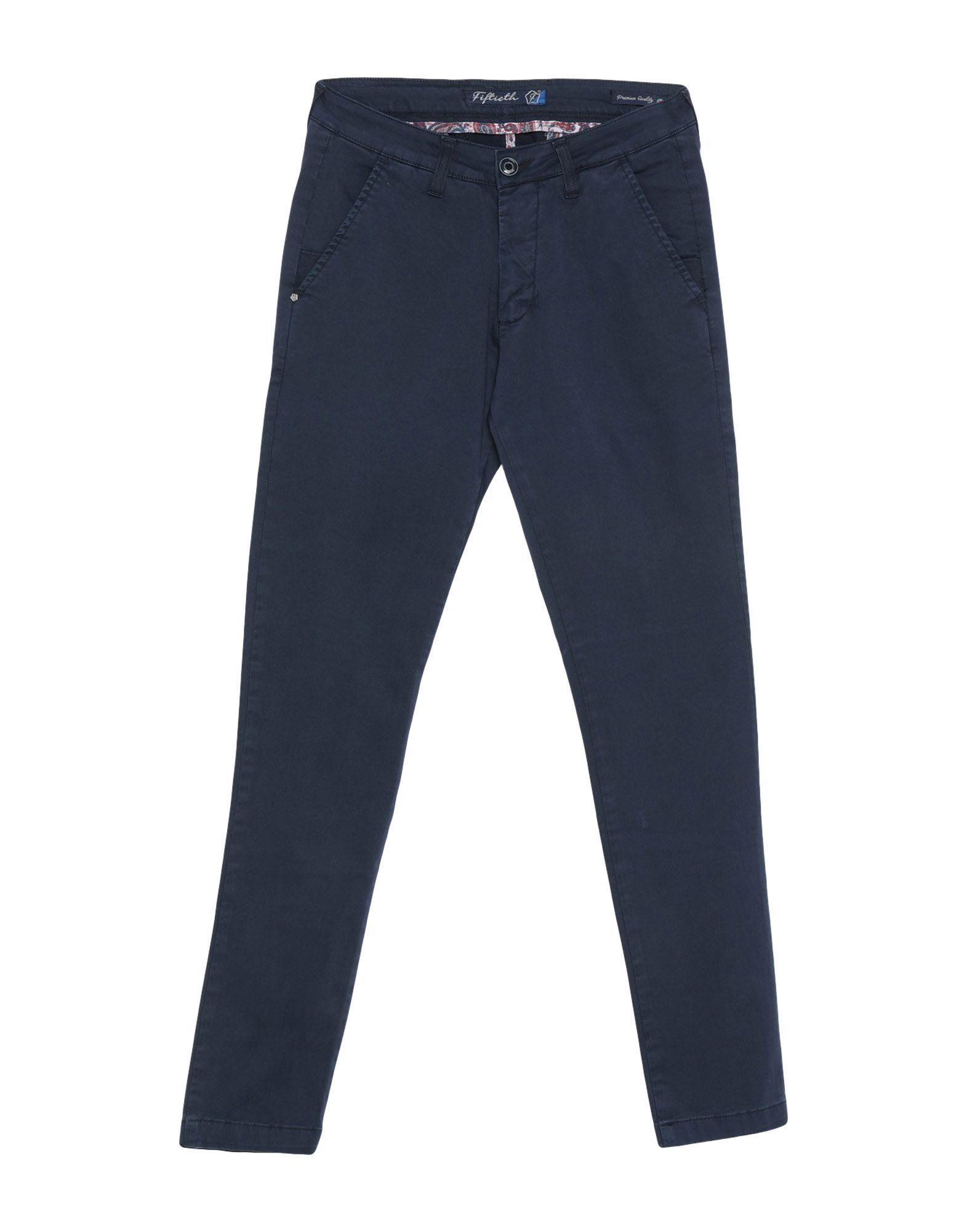《期間限定セール開催中!》FIFTIETH メンズ パンツ ダークブルー 28 コットン 97% / ポリウレタン 3%