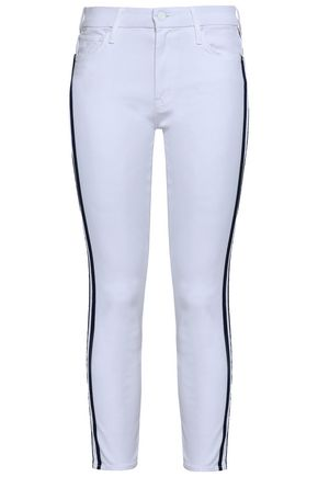 MOTHER Cropped mid-rise skinny jeans
