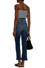 MOTHER Cropped high-rise bootcut pants