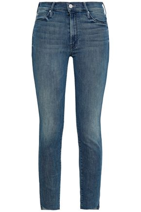 MOTHER Faded high-rise skinny jeans